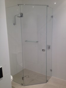 45 degree corner shower