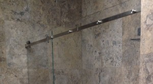 Shower Screen with Stainless Rail